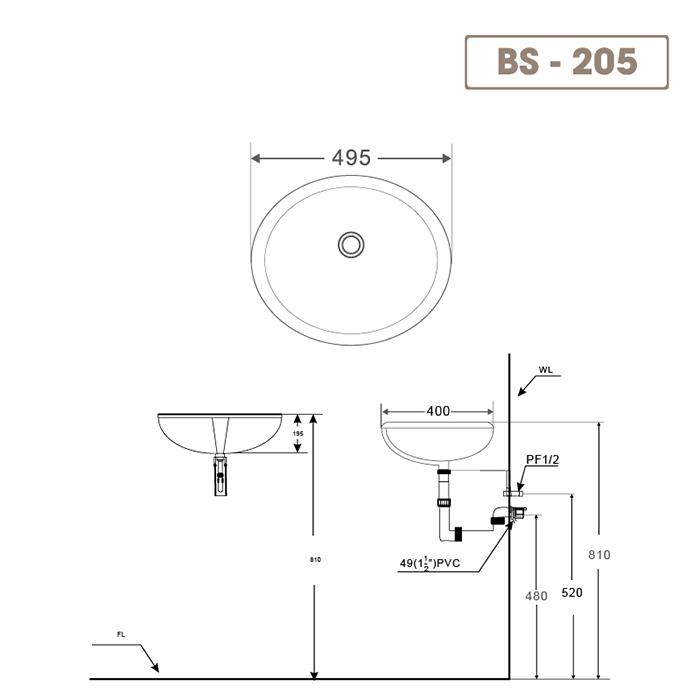 Lavabo BS-205-2