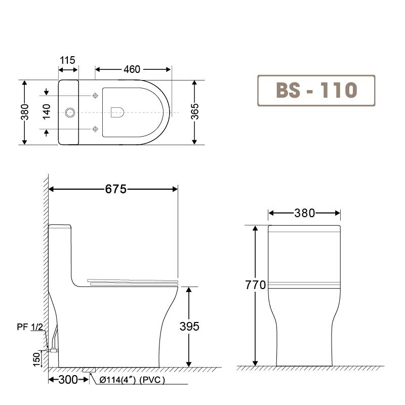Bồn cầu liền khối BS 110-1