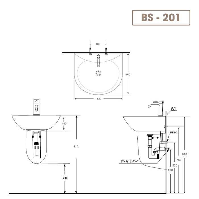Lavabo BS-201-2