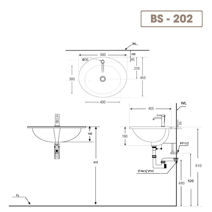 Lavabo BS-202-2