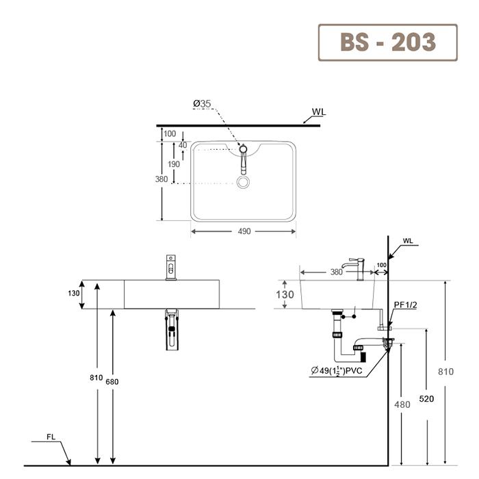 Lavabo BS-203-3