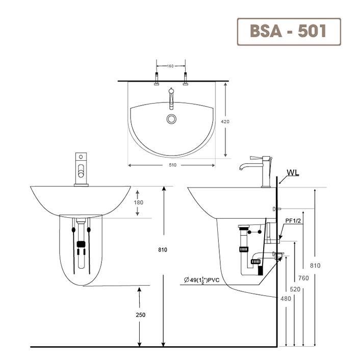 Lavabo BSA-501-1