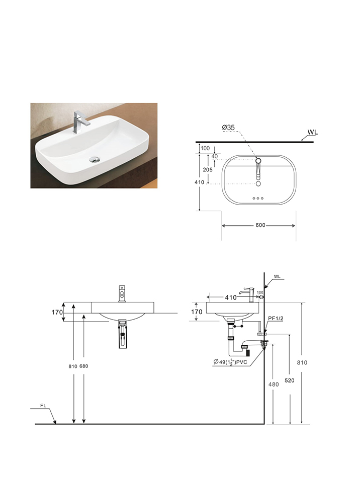 Lavabo BSA-503-1