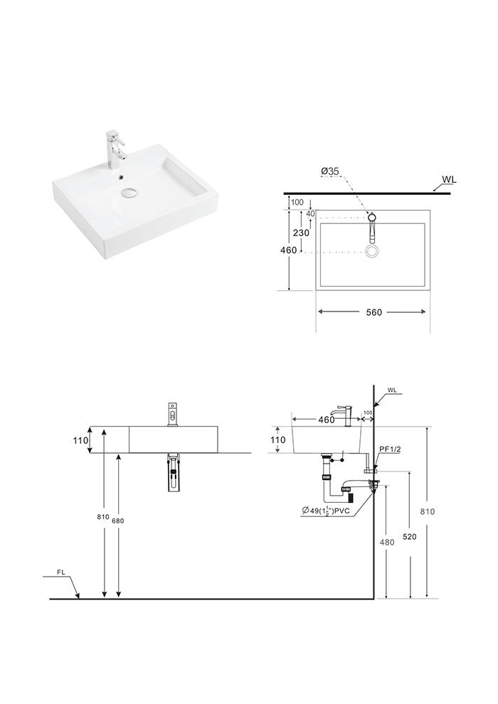 Lavabo BSA-504-2