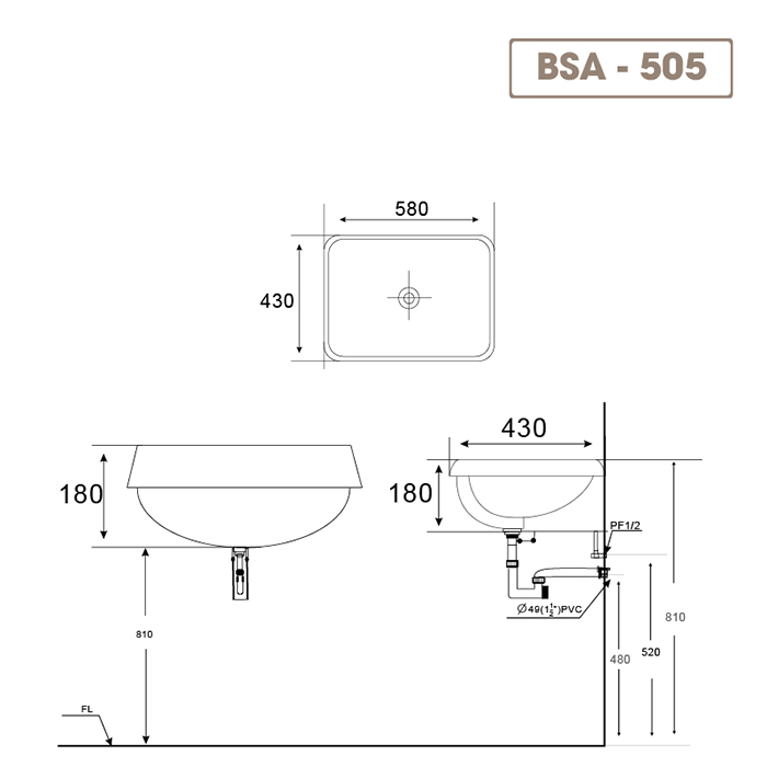 Lavabo BSA-505-1