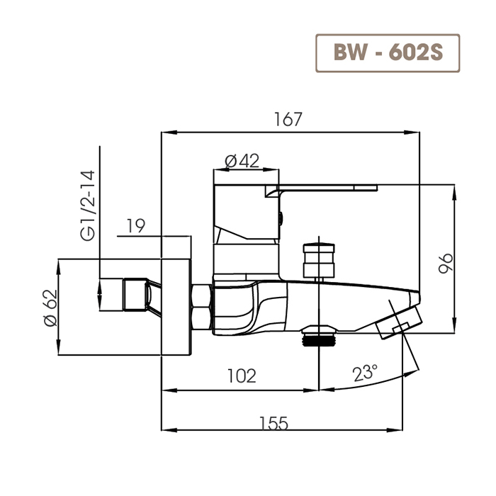 Sen tắm BW-602S-4