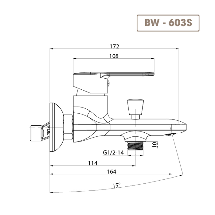 Sen tắm BW-603S-4