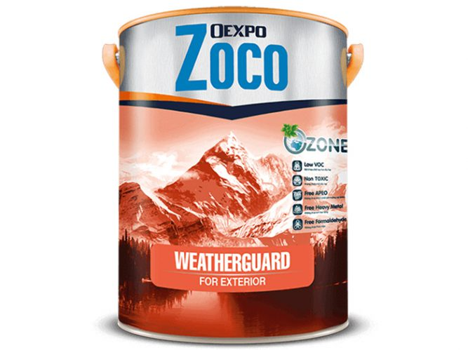 Sơn bóng ngoại thất - Oexpo Zoco Weatherguard For Exterior