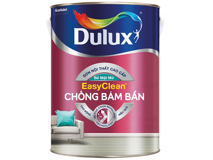 Sơn Dulux Easyclean chống bám bẩn - bề mặt mờ 15L-1