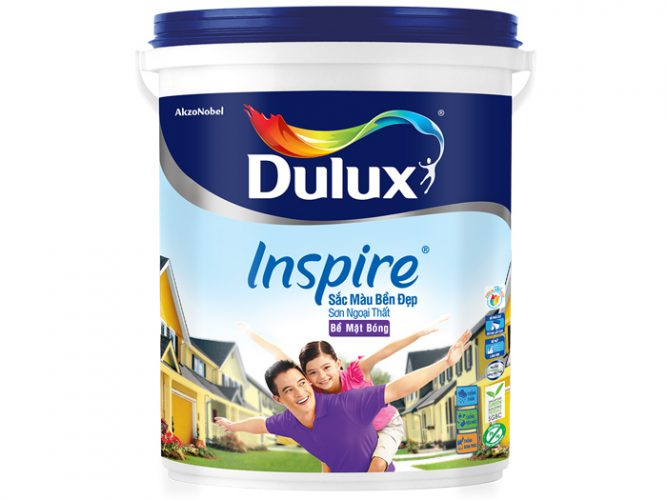 Sơn Dulux Inspire ngoại thất sắc màu bền đẹp bề mặt bóng 5L-2