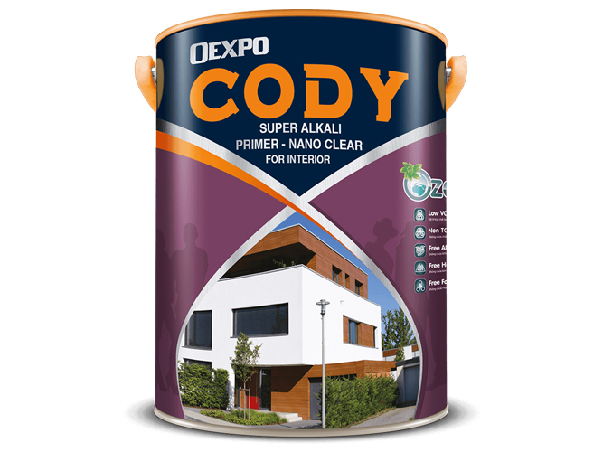 Sơn lót công nghệ cao nano clear for interiar – Nano clear Oexpo Cody super alkali primier
