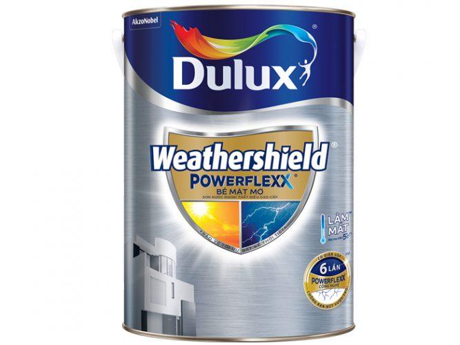 Sơn ngoại thất bề mặt mờ Dulux Weathershield Powerflexx