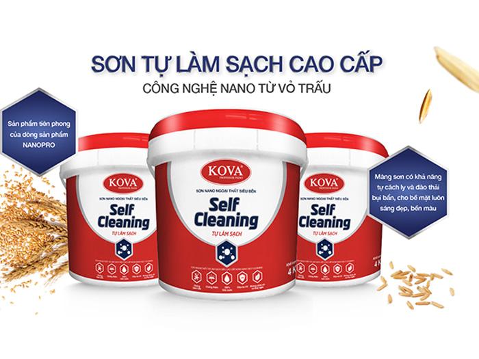 Sơn ngoại thất cao cấp Kova Nano Self Cleaning (Nền D, A) tự làm sạch