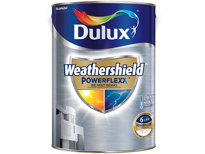 Sơn ngoại thất Dulux weathershield powerflexx bề mặt bóng 5L-1
