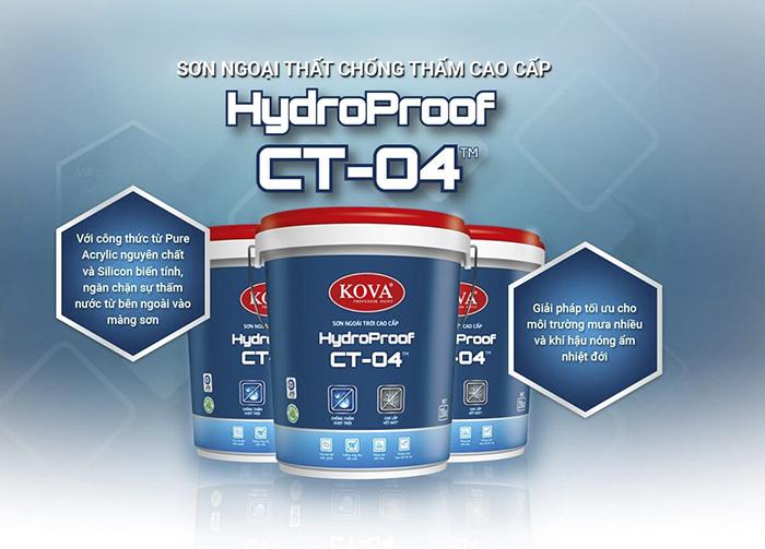 Sơn ngoài trời cao cấp Kova HydroProof CT-04-1