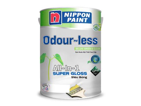 Sơn nội thất Odour-less All-in-one Siêu Bóng