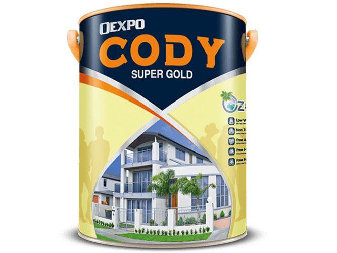 Sơn nước bóng mờ ngoài trời Oexpo Cody super gold