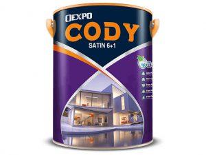 Sơn nước bóng ngoài trời Oexpo cody satin 6+1 1l