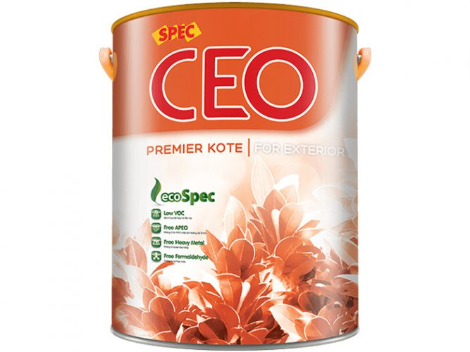 Sơn Spec Ceo Premier Kote For Exterior ngoại thất chống thấm bảo vệ hoàn hảo