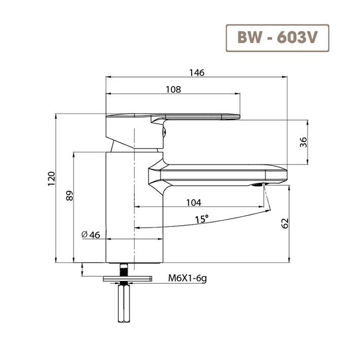 Vòi chậu rửa mặt BW-603V-4