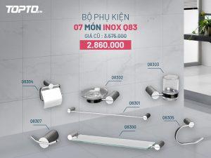 Bộ phụ kiện nhà tắm Caesar 7 món Inox Q83