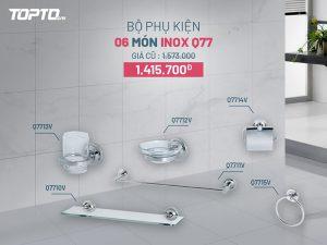 Bộ phụ kiện phòng tắm 6 món Inox Q77 Caesar