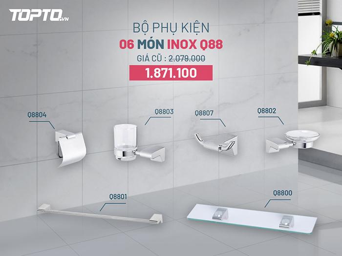 Bộ phụ kiện phòng tắm 7 món sứ Caesar Q88