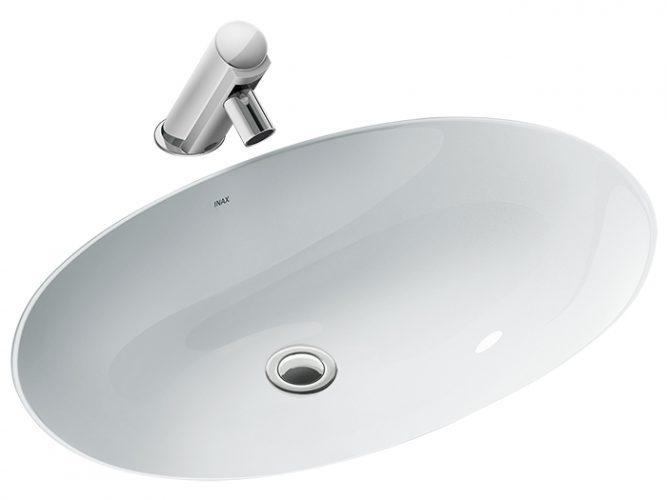 Chậu Lavabo Inax AL-2216V Âm Bàn Aqua Ceramic