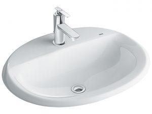 Chậu Lavabo Inax AL-2395V Dương Vành Aqua Ceramic