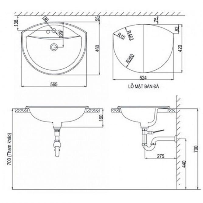Chậu Lavabo Inax AL-2396V Âm Bàn Aqua Ceramic-1