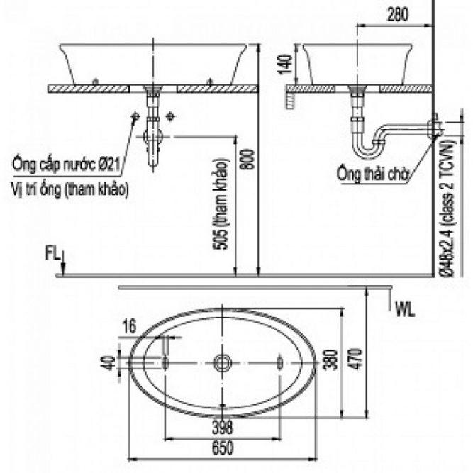 Chậu Rửa Mặt Inax AL-300V Đặt Bàn Aqua Ceramic-1