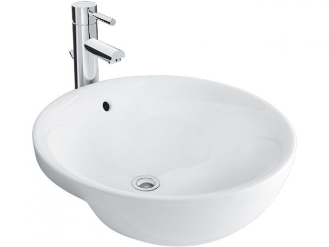Chậu Rửa Mặt Lavabo Inax AL-333V Bán Âm Aqua Ceramic