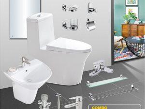 Combo thiết bị vệ sinh full CB03 hiện đại