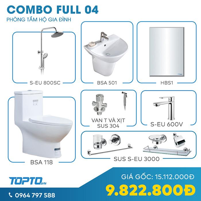 Combo thiết bị vệ sinh full CB04 - Giải pháp đồng bộ cho không gian nhà tắm-1
