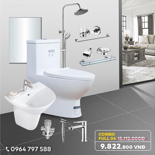 Combo thiết bị vệ sinh full CB04 - Giải pháp đồng bộ cho không gian nhà tắm