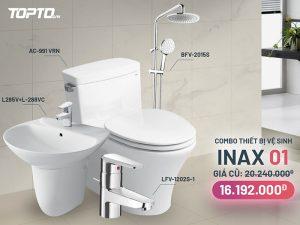 Combo thiết bị vệ sinh inax CB001 cao cấp