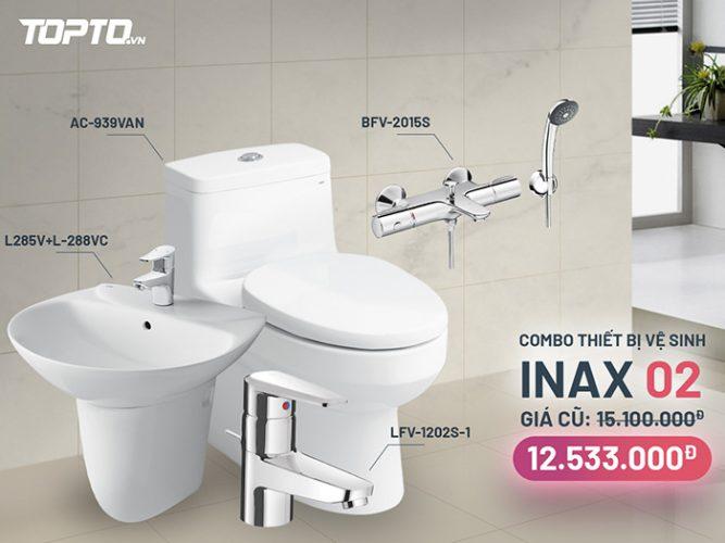 Combo thiết bị vệ sinh Inax CB002 hiện đại