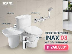 Combo thiết bị vệ sinh Inax CB003 cao cấp