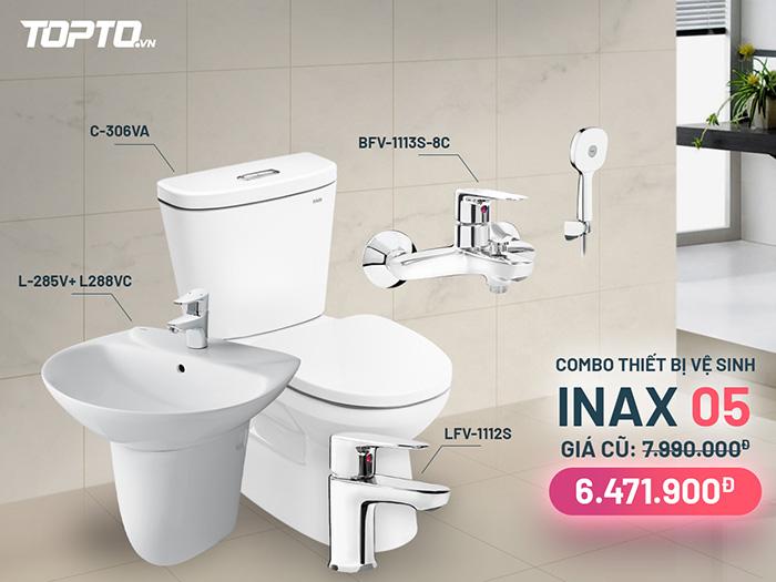 Combo thiết bị vệ sinh inax CB005 hiện đại