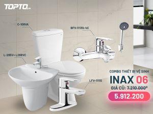 Combo thiết bị vệ sinh Inax CB006 cao cấp