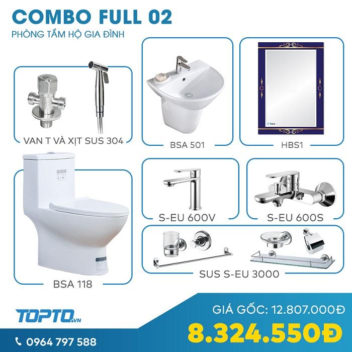 Combo thiết bị vệ sinh thanh lịch full CB02-4