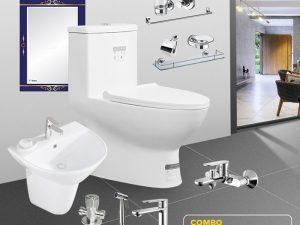 Combo thiết bị vệ sinh thanh lịch full CB02-6