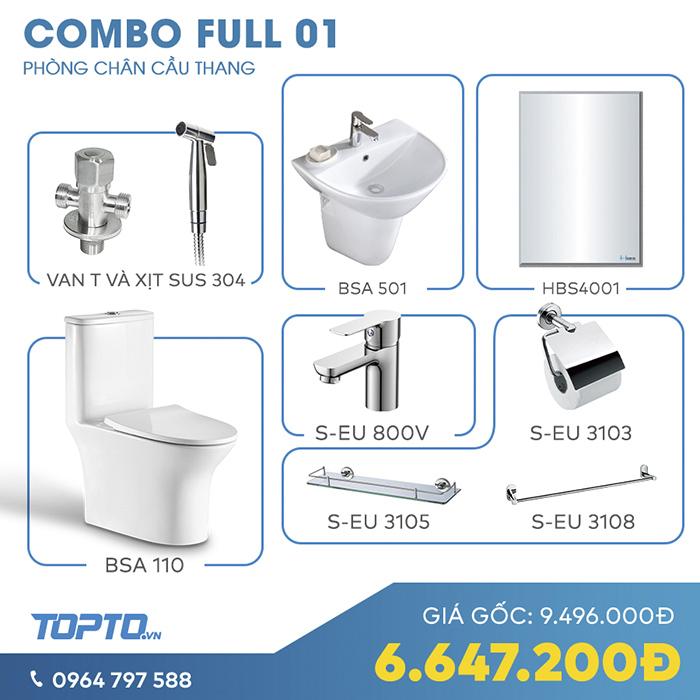 Combo thiết bị vệ sinh tiết kiệm full CB01-7