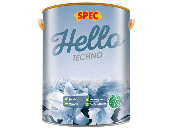 Sơn ngoại thất cao cấp chống thấm và chống rạn nứt Spec hello techno