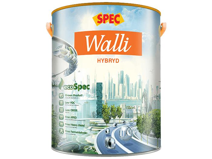 Sơn ngoại thất Spec walli hybrid cao cấp chống thấm, chống rạn nứt