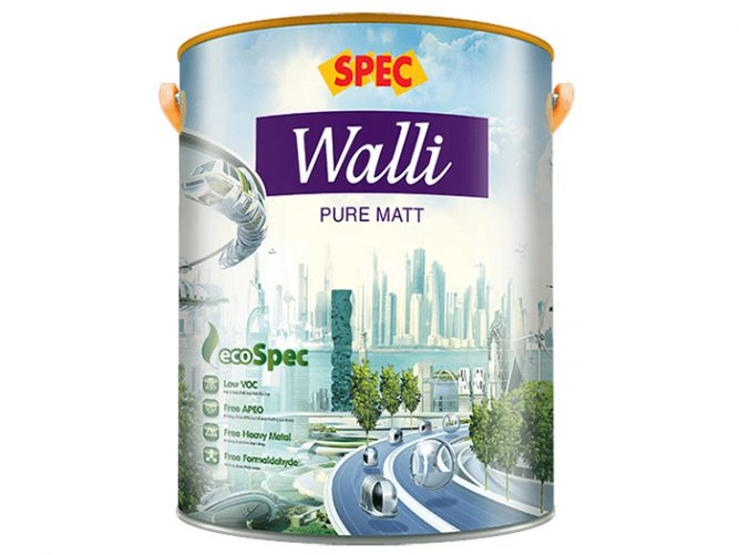 Sơn nội thất mờ Spec walli pure matt cao cấp