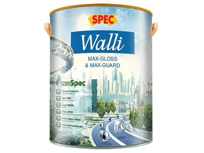 Sơn nội thất Spec walli max-gloss và max-guard siêu bóng và kháng khuẩn