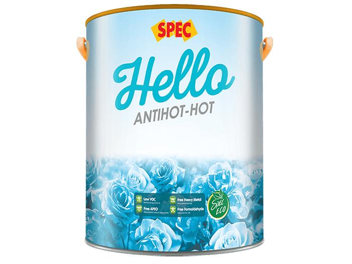 Sơn nước chống nắng ngoại thất Spec hello antihot-hot