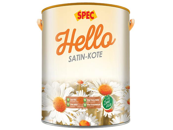 Sơn nước ngoại thất Spec hello satin-kote