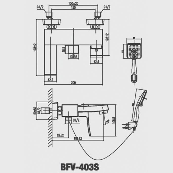 Vòi Hoa Sen Inax BFV-403S Nóng Lạnh-1